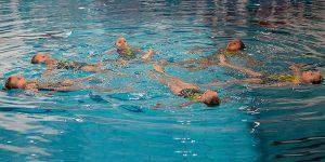 Synchronschwimmen, Schnupperkurs, Kür, Position Kreis, Flachfigur, Wasser, Choreografie